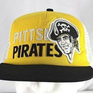 Pittsburgh Pirates Yellow/Black Trucker Style Base